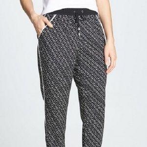 VINCE CAMUTO Graphic Specks Drawstring Crepe Pants